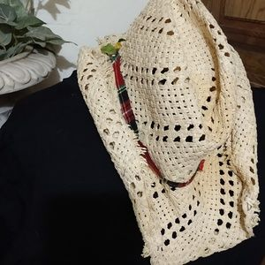 Unisex straw river hat, cowboy hat, Western hat